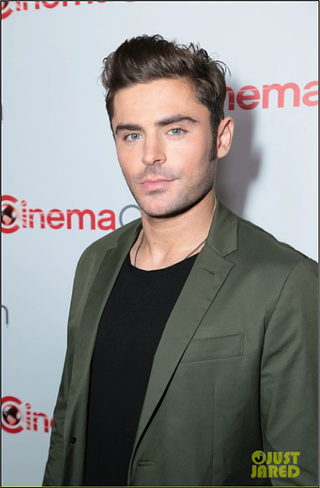 Zac Efron in Alternative Apparel Heritage Garment Dyed T-shirt