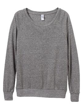 1990 Eco Grey Slouchy Pullover